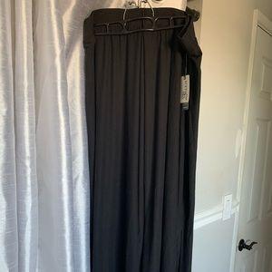 NWT Terra & Sky Black Maxi Skirt Size 4X
